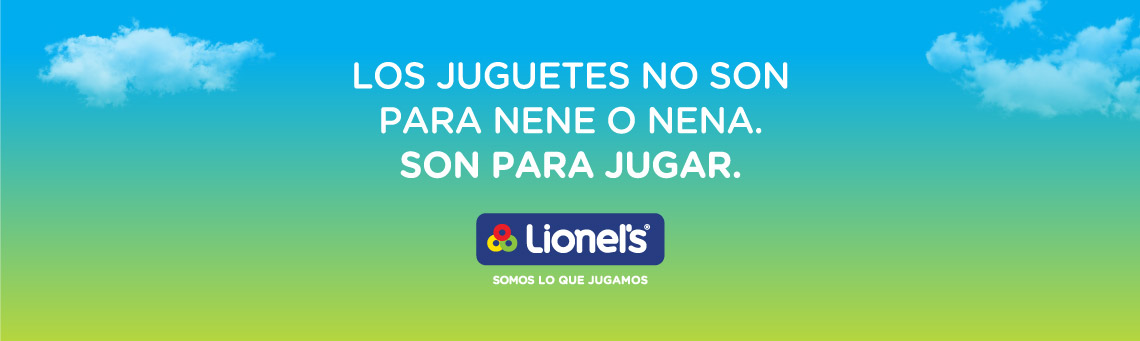 Los juguetes no son para nene o nena, son para jugar – Lionel's