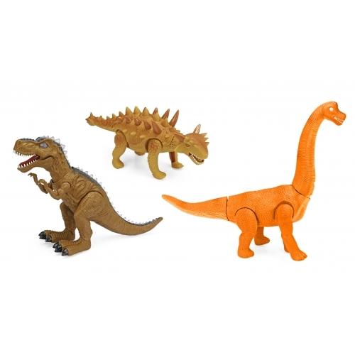 Dinosaurios con luces y sonidos - 3 modelos
