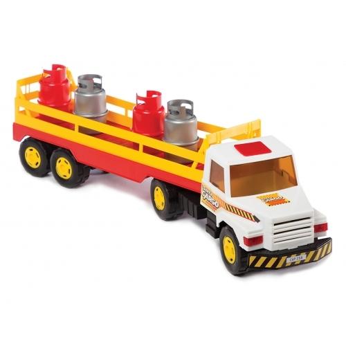 Camión transportador de garrafas