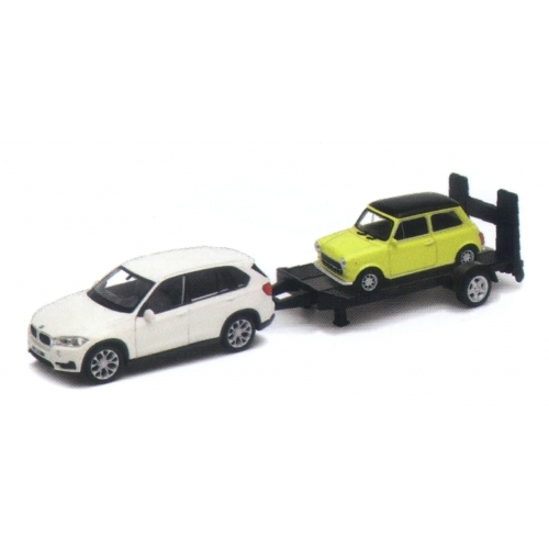 BMW X5 + trailer Mini Cooper 1300 (1:43)