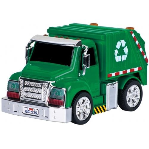 Camión recolector de residuos a pull back