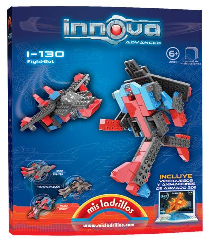 Innova - Robot trasnformable en Avión (130 piezas)